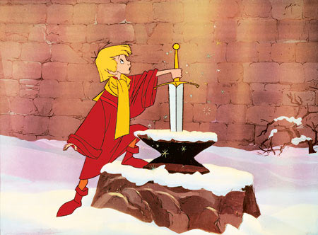 """""""Oh, it's kinda like 'The Sword in the Stone' then! She uses a special sword to bring peace and serenity to the kingdom!"""""""