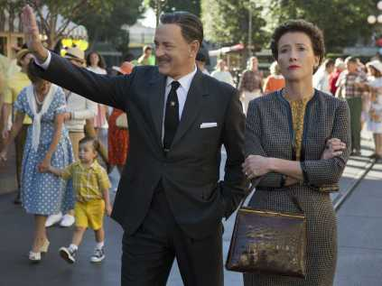 Unfortunately, my attitude towards Tom Hanks playing him is best shown in Emma Thompson's face in this picture!