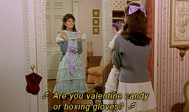 Give me valentine candy any day; it tastes much better than boxing gloves, I'm sure!