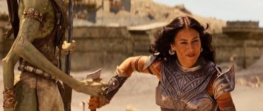 "I've never seen somebody so anxious to be taken prisoner. It probably has to do with John Carter's ""hotness""."