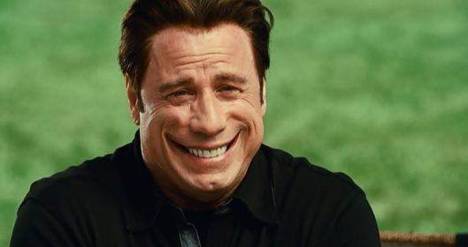 See? John Travolta now has a Joker-like face spasm. HA HA HA! Funny, no?