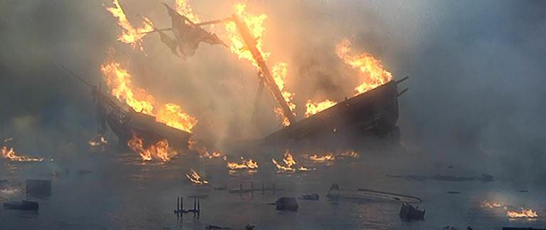 Image result for burning ship gif