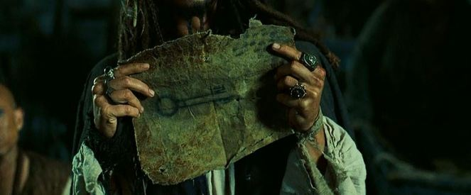 A drawing of a key! Is Jack Sparrow dabbling in the black market for art collectors?