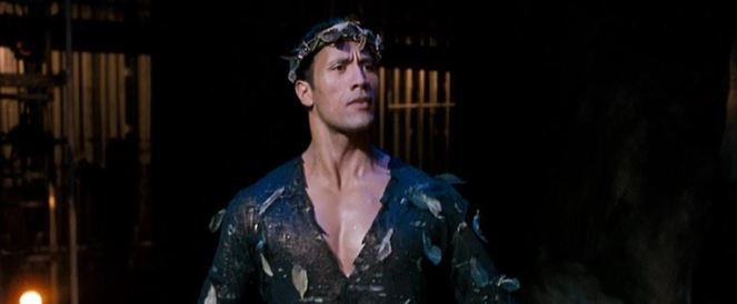 If I didn't know better, I'd say that it looks like Dwayne Johnson is performing 'A Midsummer Night's Dream'.""