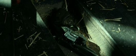 How the heck did he manage to hide a gun underneath one of the floorboards of the train that he'd be riding on to get hanged without the lawmen seeing? Well, the answer's clear: DEUS EX MACHINA!!!!