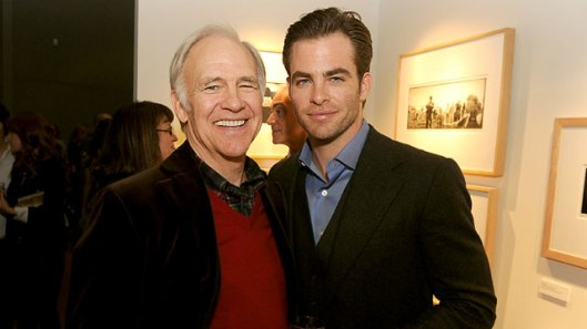 Yep, he's the father of Chris Pine. Why girls think he's so darn hot, I'll never know!