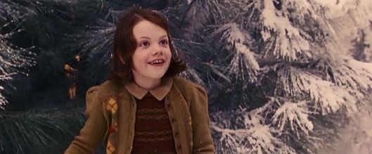 She's literally walking in a winter wonderland!