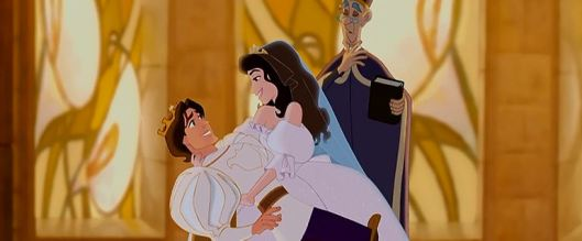 """Wow, Idina, you're gorgeous as an animated character!"" ""Thank you! I've always wanted to voice an animated character."" ""Disney's working on this project about the Snow Queen that I think you should check out."" ""Hmm...maybe I'll give it a shot. What's the worst that could happen?"""
