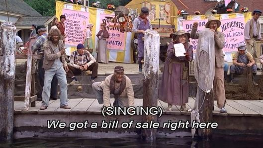Yeah, there's a song about a receipt. To top things off, the hillbillies are the ones who sing it.