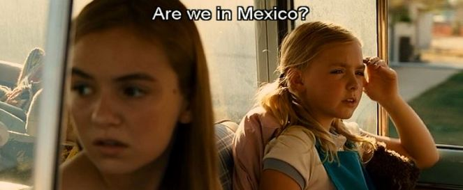 """""""The border between California and Mexico is a thin one, darling."""""""
