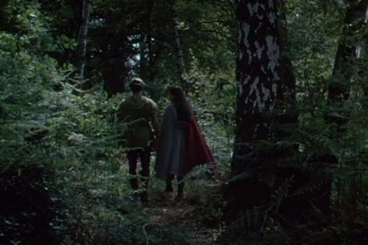and a scene wherein a love song is sung over the figures of Robin Hood and Maid Marian in the forest.