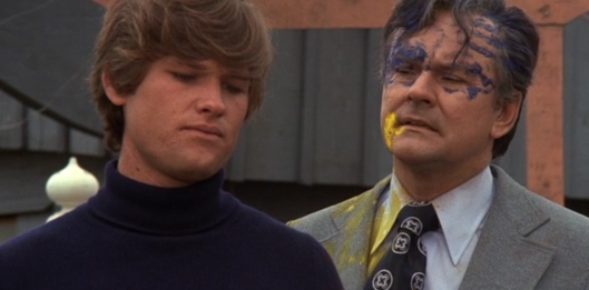 """Is this somber, apologetic bonding moment effective since I'm covered in paint?"" ""Uh, no, no it isn't."""
